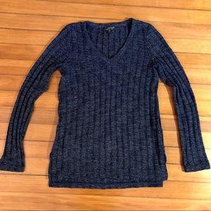 Topshop V-Neck Navy Sweater